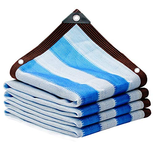 90 % UV Block Shade Cloth Durable Shade Velas Al Aire LibrePrivacy Toldo Parasol con Ojales Toldo Vela de Sombra (Color : Azul, tamaño : 6 * 8m)
