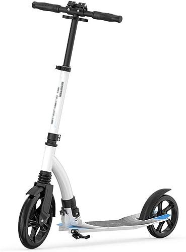 compras online de deportes LXJYMX Scooter de Doble Rueda Que Absorbe los Golpes, Golpes, Golpes, Bicicleta Plegable Paso a Paso (Color   blanco)  tienda en linea