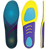 Plantar Fasciitis Arch Support Insoles for Men Womens, Shoe Inserts Orthotic Inserts Relieve Foot Pain,Flat Feet,High Arch - Running Gel Orthotic Insoles Shock Absorption Medium