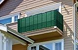 Toctax Sichtschutz Balkon Balkon sichtschutz balkonverkleidung 90cm*500cm, Balkon sichtschutz Ideen Wind- und UV-Schutz Wetterbeständiges und Pflegeleichtes, für Gartenzaun Balkonzaun (Grün)