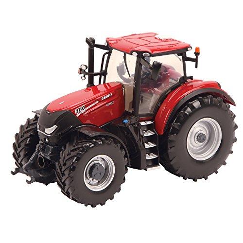 Bizak Tomy Farm - Tractor de Juguete Case Optum 300 CVX New, Escala 1:32, Color Rojo (30693138)