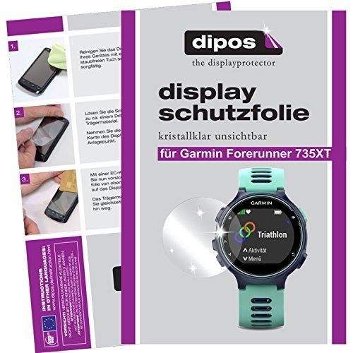 dipos I 6X Schutzfolie klar kompatibel mit Garmin Forerunner 735XT Folie Bildschirmschutzfolie