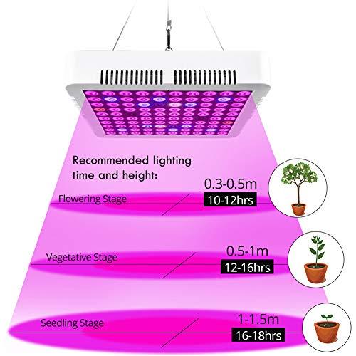 POOPFIY LED Grow Light 300W Full Spectrum Rojo Azul Blanco IR para Interior Invernadero Grow Tent Phyto Lamp