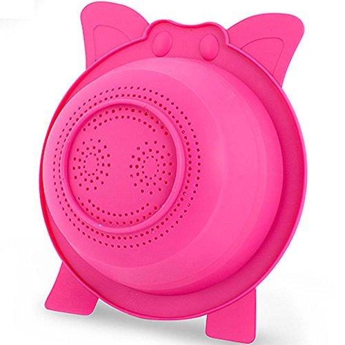 Balvi Passoire Oink! Couleur Rose Pliable Silicone 9x21x23,8 cm