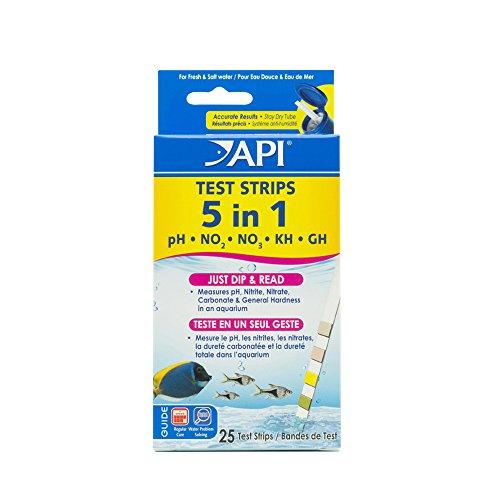 API - Tiras de Prueba 5 en 1 de Agua Dulce y Salada para acuarios 🔥