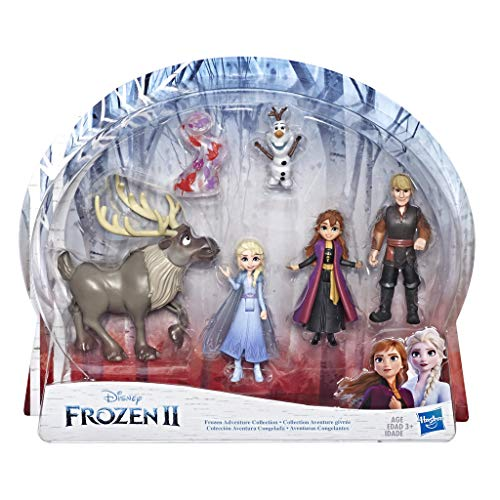 Disney La Reine des Neiges 2 - Coffret de 5 Mini figurines - Poupées Elsa, Anna, Kristoff, Olaf et Sven