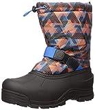 Northside Boy's Frosty Snow Boot, Navy/Orange, 4 Toddler