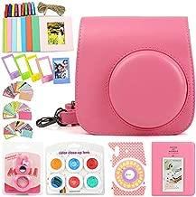 Wogozan 9 in 1 Accessories Kit for Fujifilm Instax Mini 9 8 Instant Film Camere Case Accessories Bundle (Flamingo Pink)