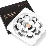 CarLary 3D Faux Mink Eyelashes Set, Handmade Luxurious Volume Fake Eyelashes Long Soft Fluffy Reusable False Eyelashes Pack 7 Pairs…