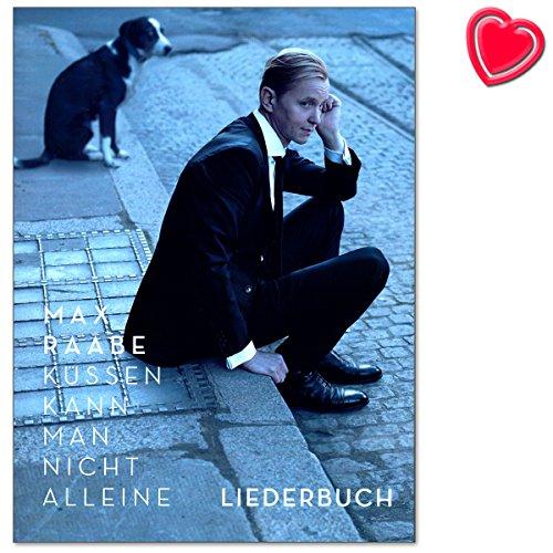Max Raabe kussen kan men niet alleen - liedboek naar het album - songs gearrangeerd voor piano, zang en gitaar - Songbook met kleurrijke hartvormige muziekklem