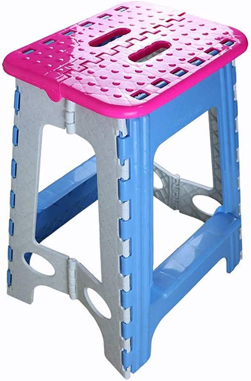 AGLZWY 2 Pcs Folding Step Stool Lightweight Anti Slip Feet Save Space Portable Great for Kids and Adults Kitchen Garden Bathroom Holds up to 100 Kg (color   bluee, Size   30X24X46CM)