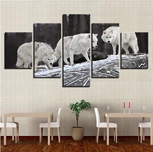 Lienzo urs decoración del hogar HD impresiones carteles 5 piezas vista de la cueva para un árbol de coco en la isla del océano, marco de arte de pared - 10 x 15 x 2,10 x 20 x 2,10 x 25 cm