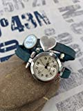 Wickelarmbanduhr Wunschname Wickeluhr Armbanduhr Lederarmband Uhr silber Wunschname Name personalisiert Schiebeperle Cabochon Geschenkidee