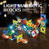 Morkka Bloques de construcción magnéticos, Juguetes para niños de 96 PCS, Juego de Bloques de construcción de Juguetes educativos 3D, Regalo de construcción de Pistas para niños y niñas de 3+(49PCS)