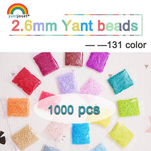 Juguete Rompecabezas 2.6mm YANTJOUET 1000pcs Perler Beads partículas de Hierro para los niños Regalo de Calidad Hama Perlas Perlas de fusibles de Bricolaje Mini Granos Rompecabezas para niño