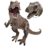 YIJIAOYUN Figura de Dinosaurio Surtido de plástico Grande de 12 Pulgadas Figura de tiranosaurio Verde Rex Toy Modelo Educativo Realista Animal para Niños