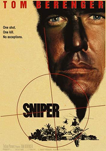 H/S American Sniper Bradley Cooper Película Retro Lienzo Arte Pintura Al Óleo Cartel Calidad Decoración del Hogar Mural Pintura Sin Marco50X70Cm R3864