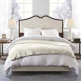 Beautyrest Duke Weighted Adult, Faux Fur, Glass Beads Filling, and Removable Cover Calming Heavy Blankets, 60x70-18lbs, Ivory