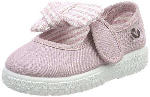Victoria Mercedes Lona Pañuelo, Zapatos de primeros pasos para Bebé-Niñas, Morado (Violeta), 22 EU