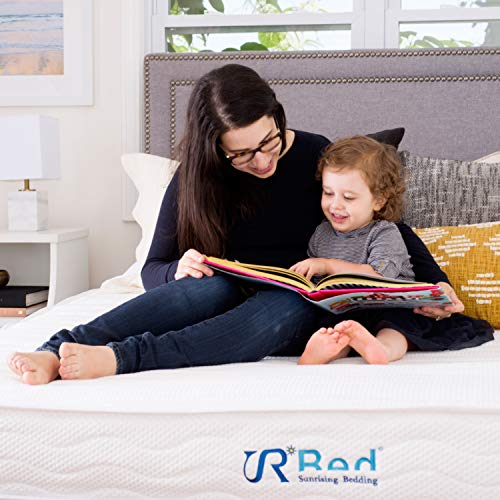 """Sunrising Bedding 8"""" Natural Latex Queen Mattress, Individually Encased Pocket Coil, Firm, Supportive, Naturally Cooling, Non-Toxic Organic Mattress, 120-Night Risk-Free Trial, 20-Year Warranty"""