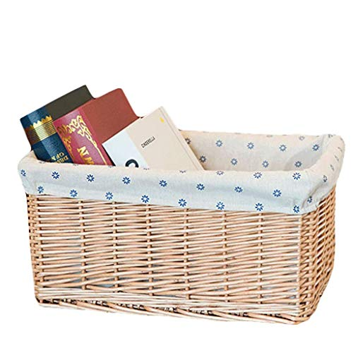 ZTMN Cesto portaoggetti Cesto portaoggetti Hamper Jinliu Home Desktop Scatola portaoggetti Scatola portaoggetti Scatola portaoggetti (Colore: Colore primario, Taglia: S)
