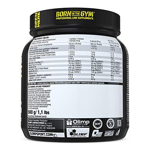 Olimp L-Glutamine Explode Powder, Ananas, 500 g - 4