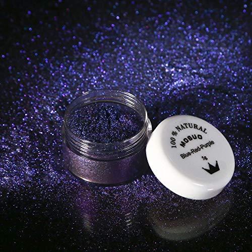 MOSUO Epoxidharz Farbe Seifenfarbe Set, 5g Blue-Red-Purple Glitzer Mica Pulver Farben, Metallic Farbstoff für Slime, Malerei, Badebomben, Schmuck, Lack, Resin, Beschichtung, Nägel