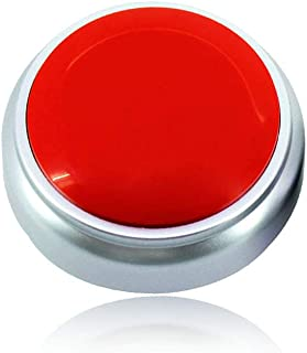 Sound Button- 30 Seconds Custom Recordable Talking Button-Record & Playback Your Own Message-Quality Voice Sound Recorder-Answer Buzzer (RED+Sliver)