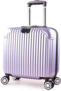 BXDYA Travel Suitcase Male and Female Students Password Trolley Case Universal Wheel Boarding Leather Box Suitcase (Color : Purple)