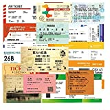 XXCKA Air Boarding Pass Billete de Tren Vintage Billete para portátil Equipaje Skateboard Sticker 55 Piezas