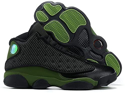 CPBY Men13 Decompressione Traspirante Nuove Scarpe da Basket Abbigliamento Abbigliamento Scarpe Traspiranti, Dark-Green - 10