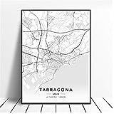 A&D Druck auf Leinwand Tarragona Salamanca Ibiza Granada