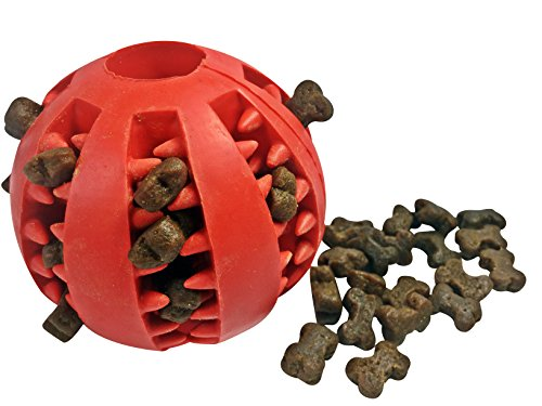 Dog Treat Dispenser Toy & Treats - 1 Poultry Pack (500g) and 1 Treat Ball