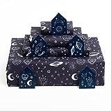 Central 23 - Papel de regalo azul marino - 6 hojas de papel de regalo - Espacio - Planetas y estrellas - Papel de regalo de moda para hombres, mujeres, niños y niñas - Reciclable