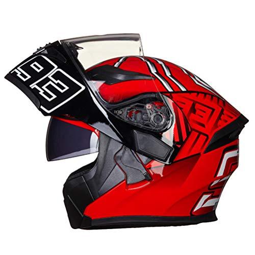 Off-Road Moto Motocicleta Casquillo abatible Unisex Adultos Antiincrustante Doble Lente Cascos integrales Motocross Gorras de Seguridad