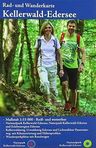 Naturpark Kellerwald-Edersee: Rad- und Wanderkarte mit Nationalpark Kellerwald-Edersee (wetterfest)