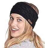 Womens Winter Ear Warmer Headband - Fleece Lined Cable...