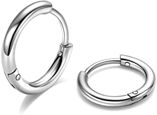 أقراط حلقية من الصلب المستخدم في الجراحات 316L بحجم 6 ملم و8 ملم و10 ملم، أقراط حلقية صغيرة أفقية مضادة للحساسية ويمكن وضع...