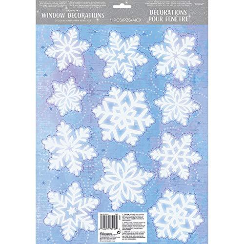 Amscan International 533 963,9 cm Flocon de Neige en Vinyle pour fenêtre kit de décoration