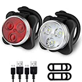 Ascher Rechargeable LED Bike Lights Set - Headlight Taillight Combinations LED Bicycle Light