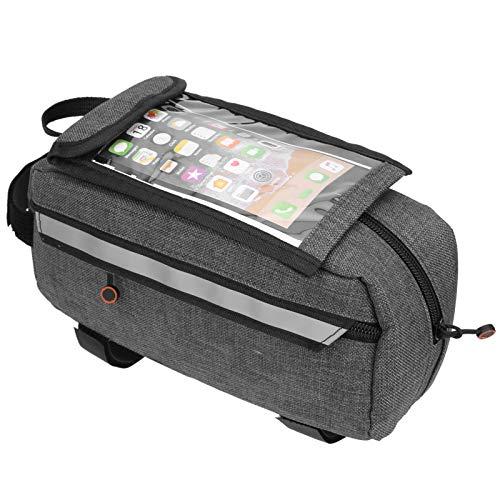 DAUERHAFT Outdoor Bike Front Beam Bag Touchscreen Spritzwasser Fahrradaufbewahrungstasche mit großer Kapazität für Mainstream-Telefone