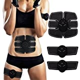 SEEYC Abs Trainer EMS Abdominal Muscle Stimulator Muscle Toning Belts Home Workout Fitness Device for Men &...