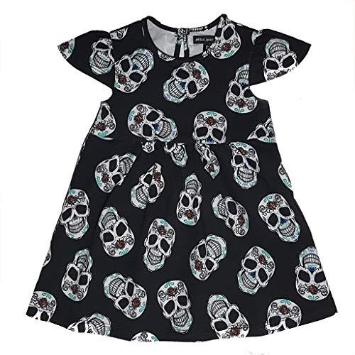 Metallimonsters Baby Mädchen (0-24 Monate) Kleid schwarz Schwarz  0-3 Monate