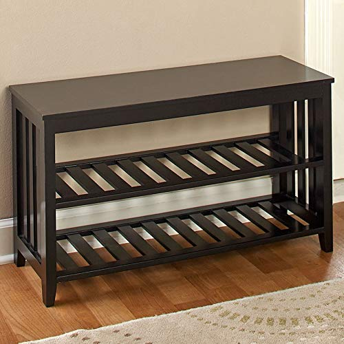 The Lakeside Collection Home Entryway and Foyer Bench - Hallway, Mudroom Accent - Black