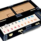 Bello Games New York, Inc. Spring Street Deluxe Designer Rummy Game Set with Wooden Racks and Large Size Numbers