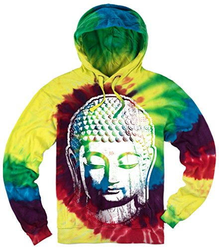 Mens Big Buddha Head Tie Dye Hoodie, 4XL Michaelangelo