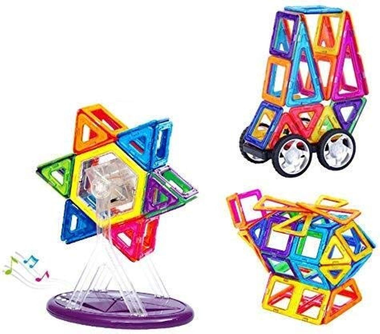 QNDYDB Magnetische Bausteine  Bausteine Jungen Und Mdchen Kreative Bildung Geschenke  3D Magnetic Structure Kit   138-tlg