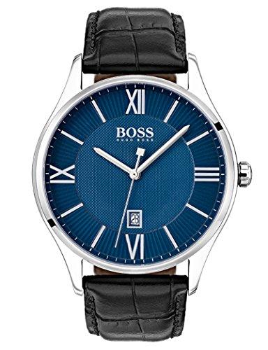 Hugo Boss Homme Analogique Quartz Montre avec Bracelet en Cuir 1513553