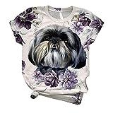 Camiseta Mujer Verano Casual Talla Grande, Morbuy Damas Blus