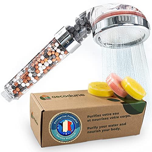 Aecodune Pommeau Douche XL Vitamine C Premium avec Filtre Eau - DEVENEZ SUBLIME - Douchette Anti Calcaire, Élimine 99% Chlore &...